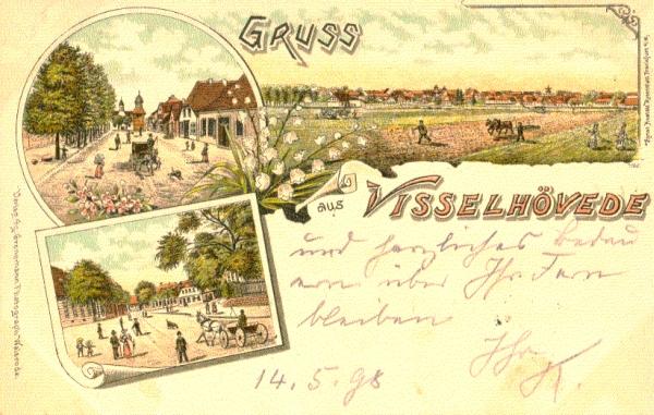 Ansichtskarte von Visselhövede um 1898