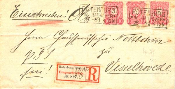 Altbrief von Rotenburg nach Visselhövede