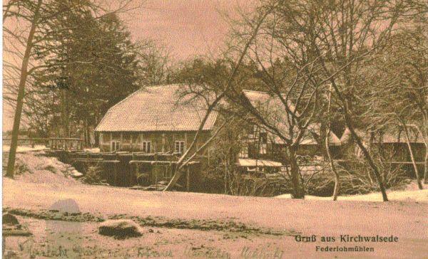 Federlohmühlen im Winter