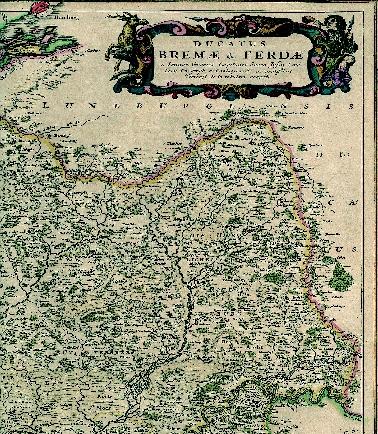 Landkarte Bremen-Verden von Görries