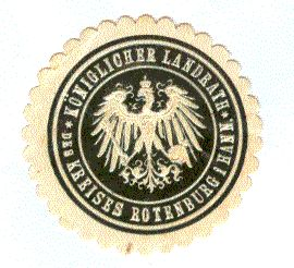 Siegelmarke: Königlicher Landrath des Kreises Rotenburg i. Hann.